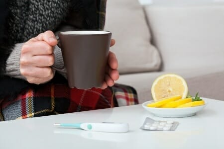 Lemon cold and flu treatment