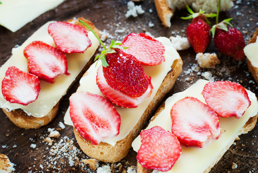 Strawberry and Cheese Sandwich