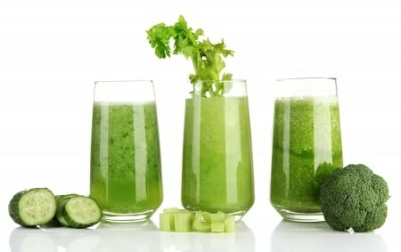 green healthy juices