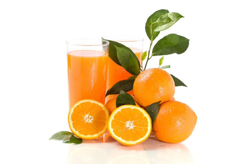 orange juice against cold