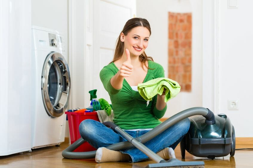household cleaning with natural products