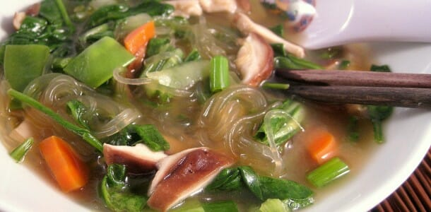 Miso Noodle Soup with Kelp to Energize Body and Mind