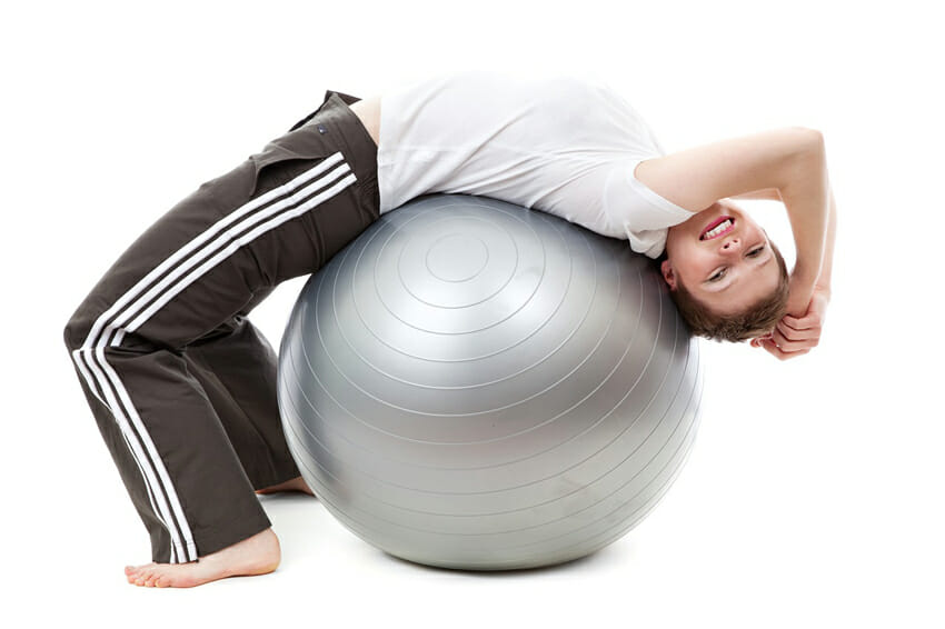 woman exercise on ball
