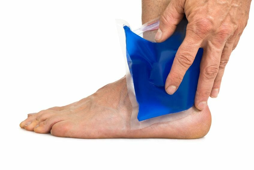 cool gel pack for ankle swelling