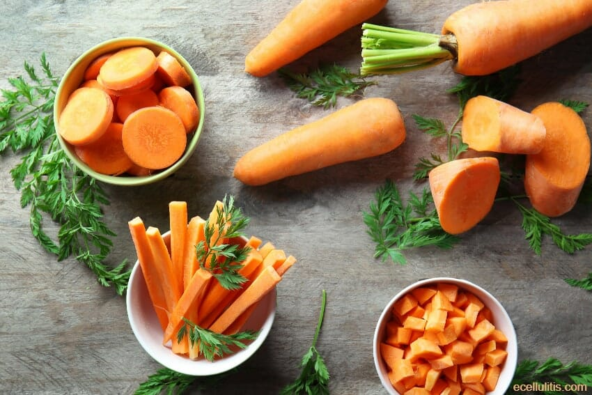Carrots: Vegetables for Skin's Elasticity and Infections