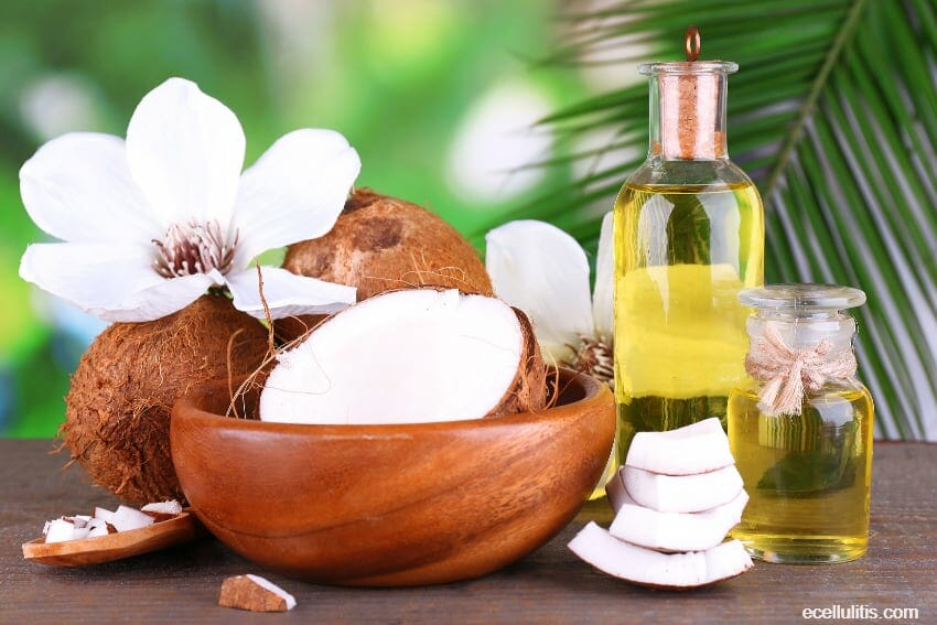 coconut oil - slow down the aging process and restore the skin glow