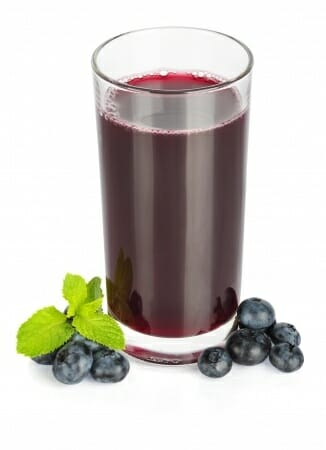 fresh blueberry juice