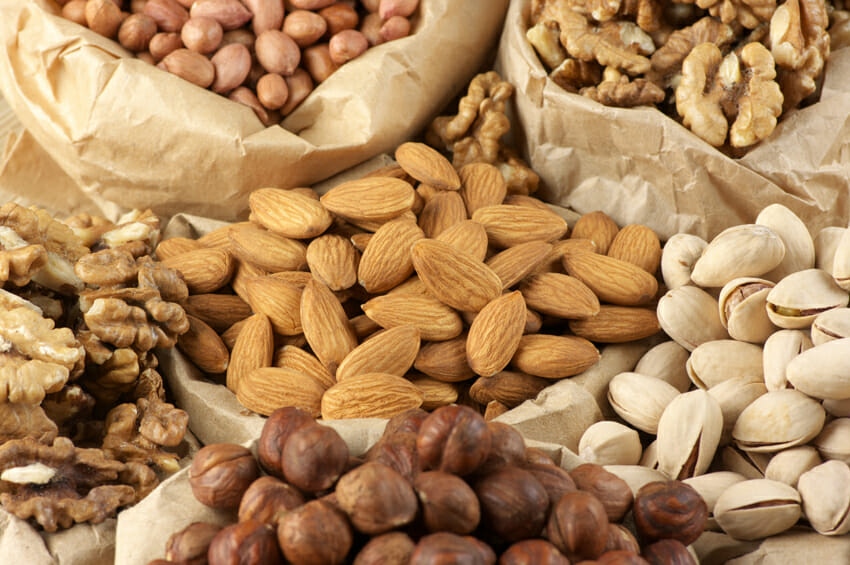 nuts against cold