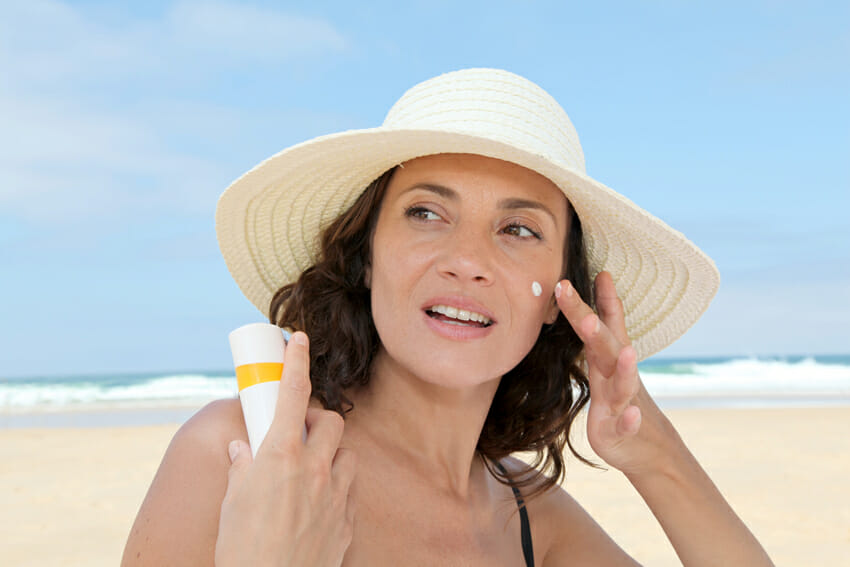 Use sunscreen and natural moisturizers