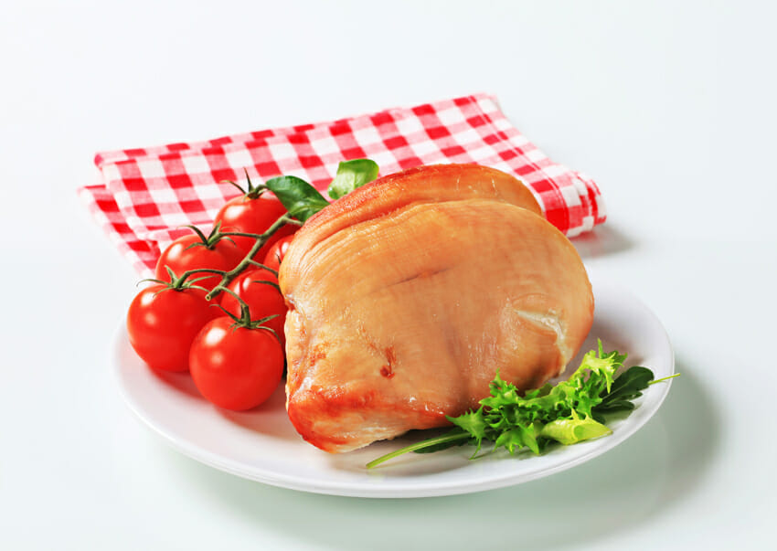 skinless turkey breast against cold