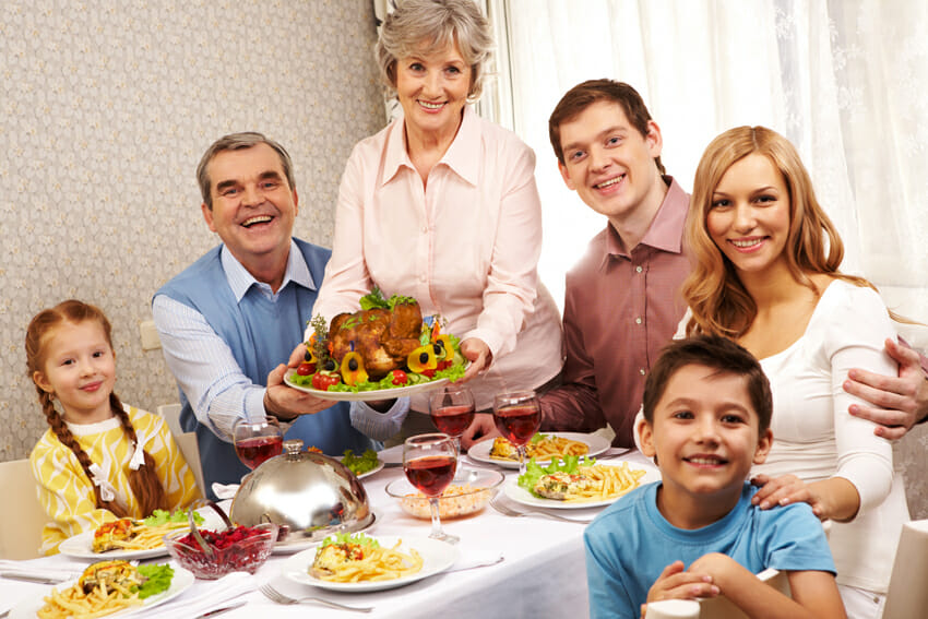 thanksgiving day - how to prepare a healthy meal