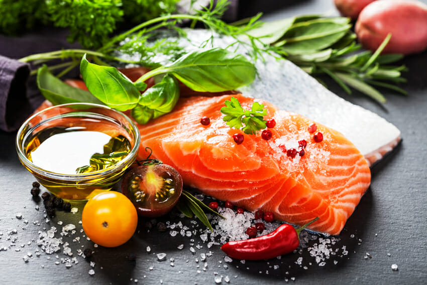 salmon - eat the food that can help you fight it