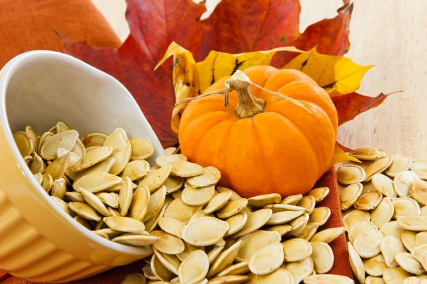 eat the food that can help you fight it - pumpkin seeds