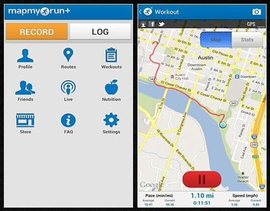 Map My Run mobile app