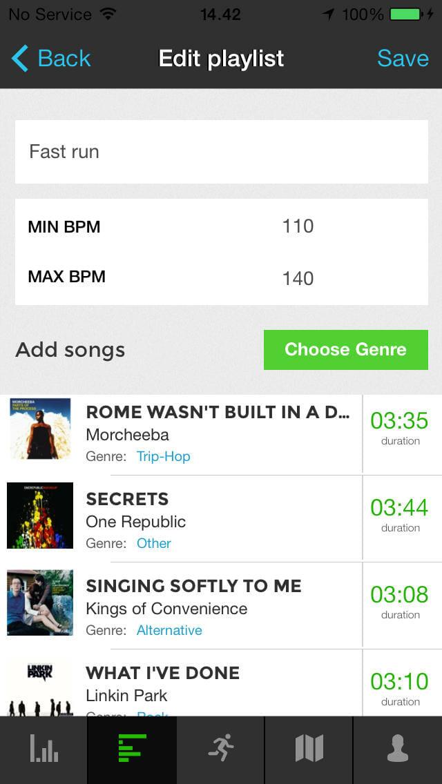 RunOnBeat mobile app
