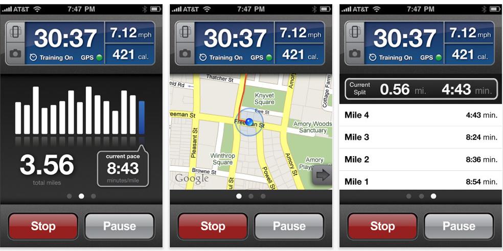 RunKeeper mobile app