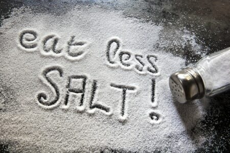 Salt influences the skin by affecting collagen