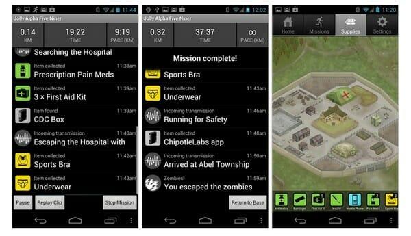 Zombies, Run! mobile app