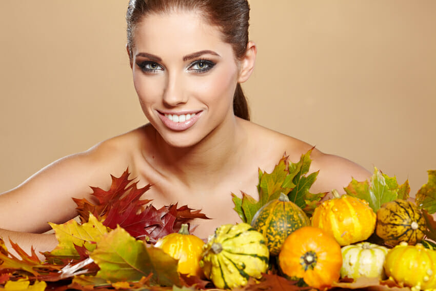 Pumpkins for healthy skin and hair – omega fatty acids and vitamin E promote skin and hair health