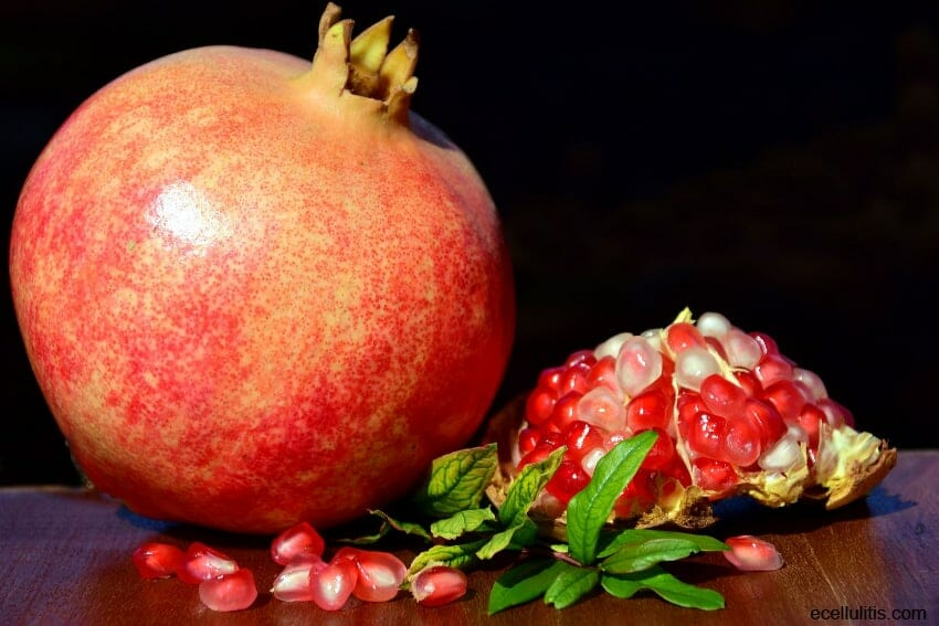 pomegranates - winter food for healthy skin