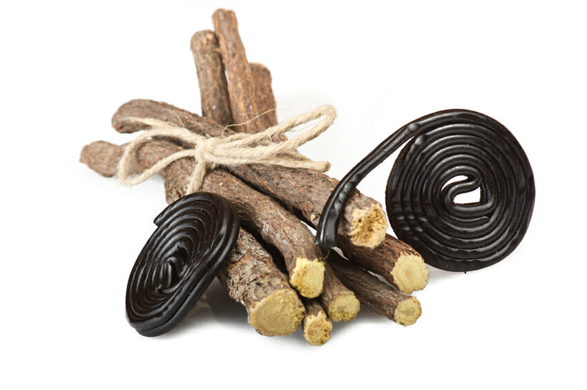 licorice roots and candies