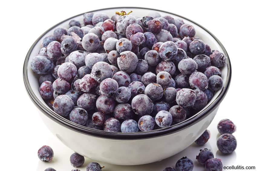 frozen blueberries - healthy frozen food