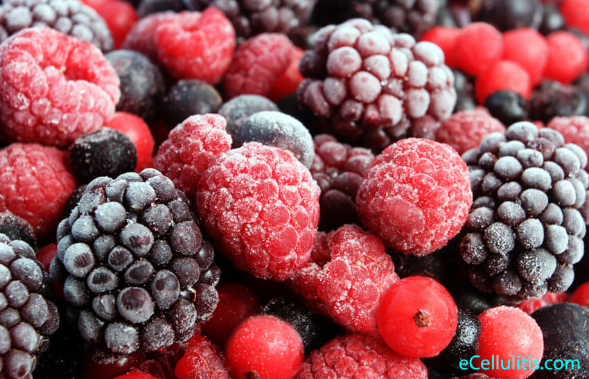 frozen berries - healthy desserts for thanksgiving